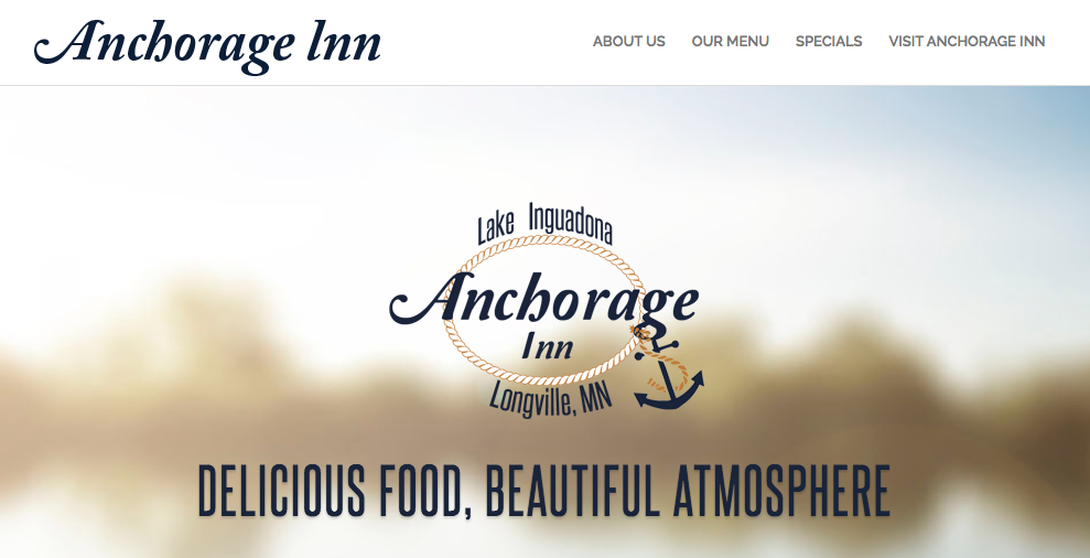 Anchorage Inn homepage screenshot