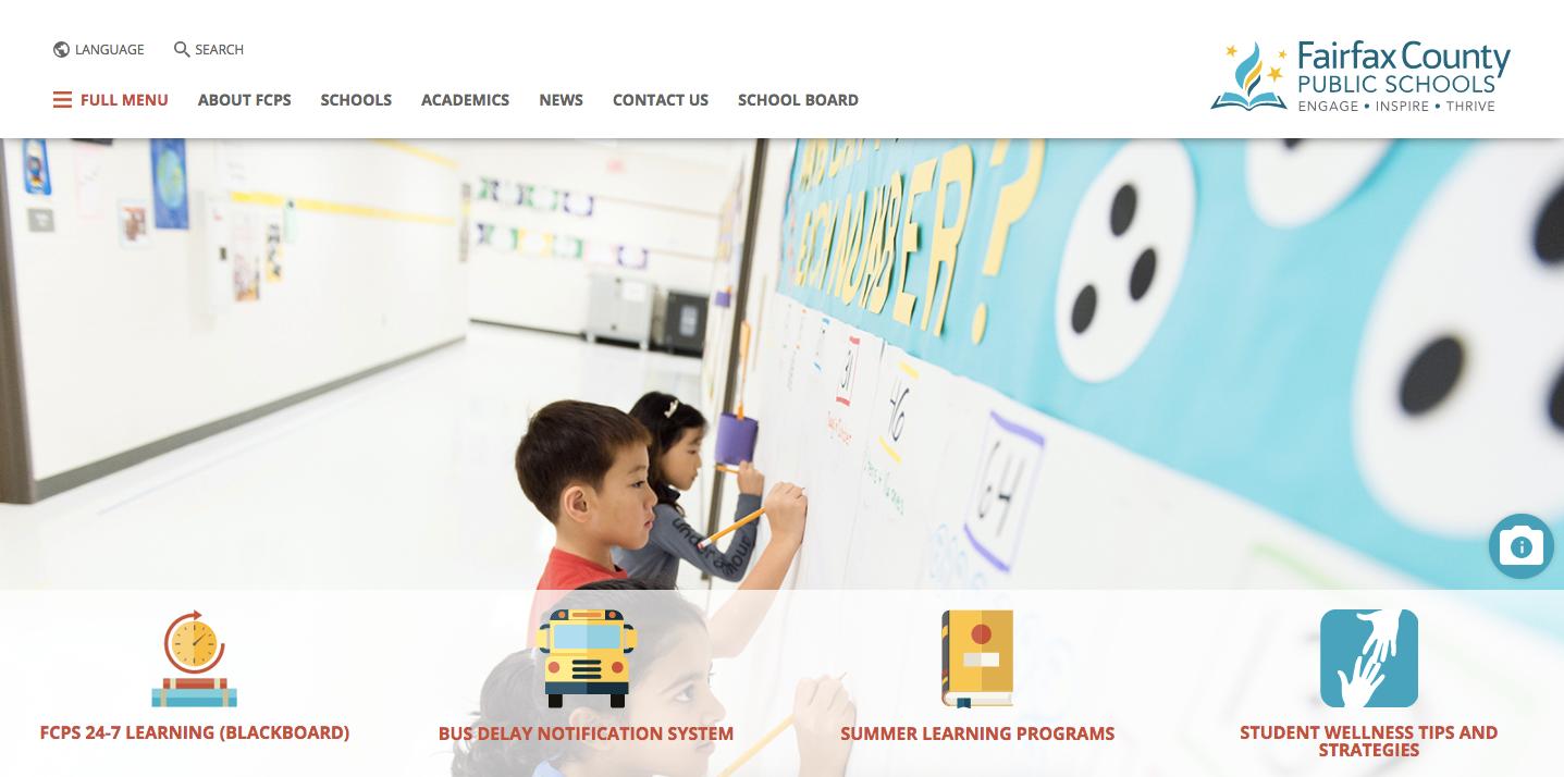 FCPS.edu homepage