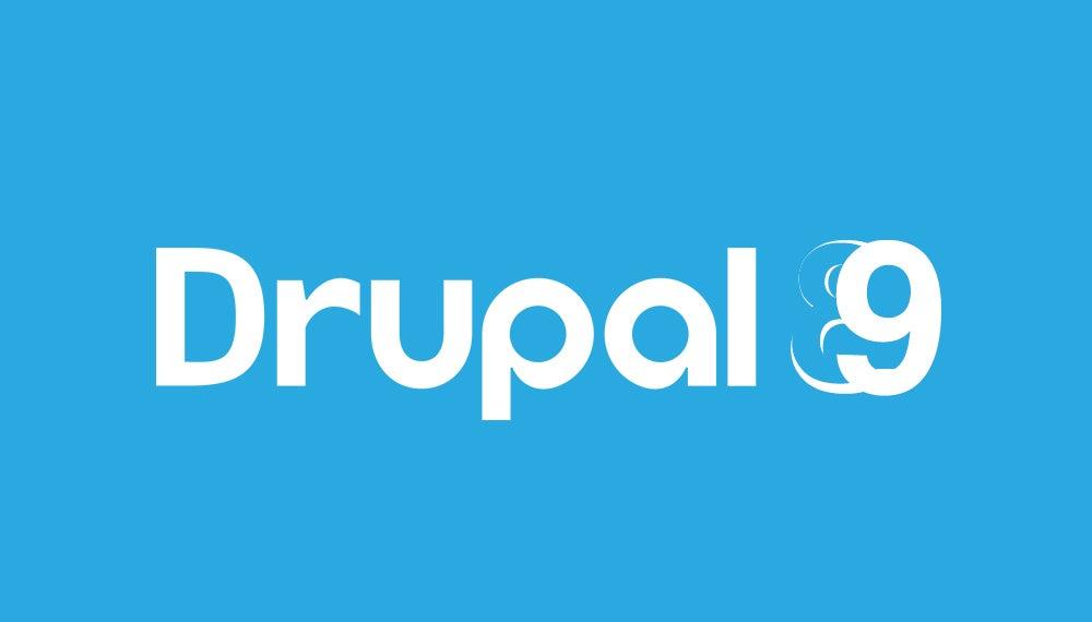 Drupal 9 CMS Logo