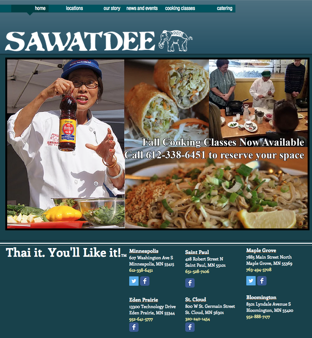 Sawatdee restaurant screenshot