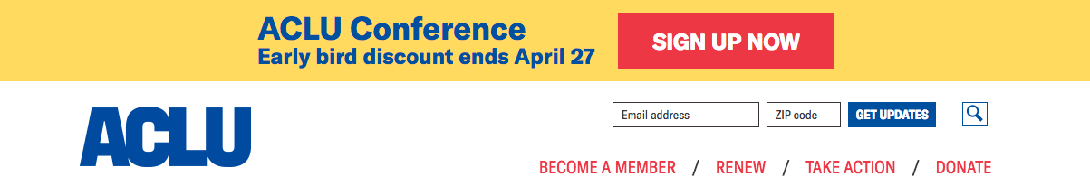 ACLU conference banner screenshot