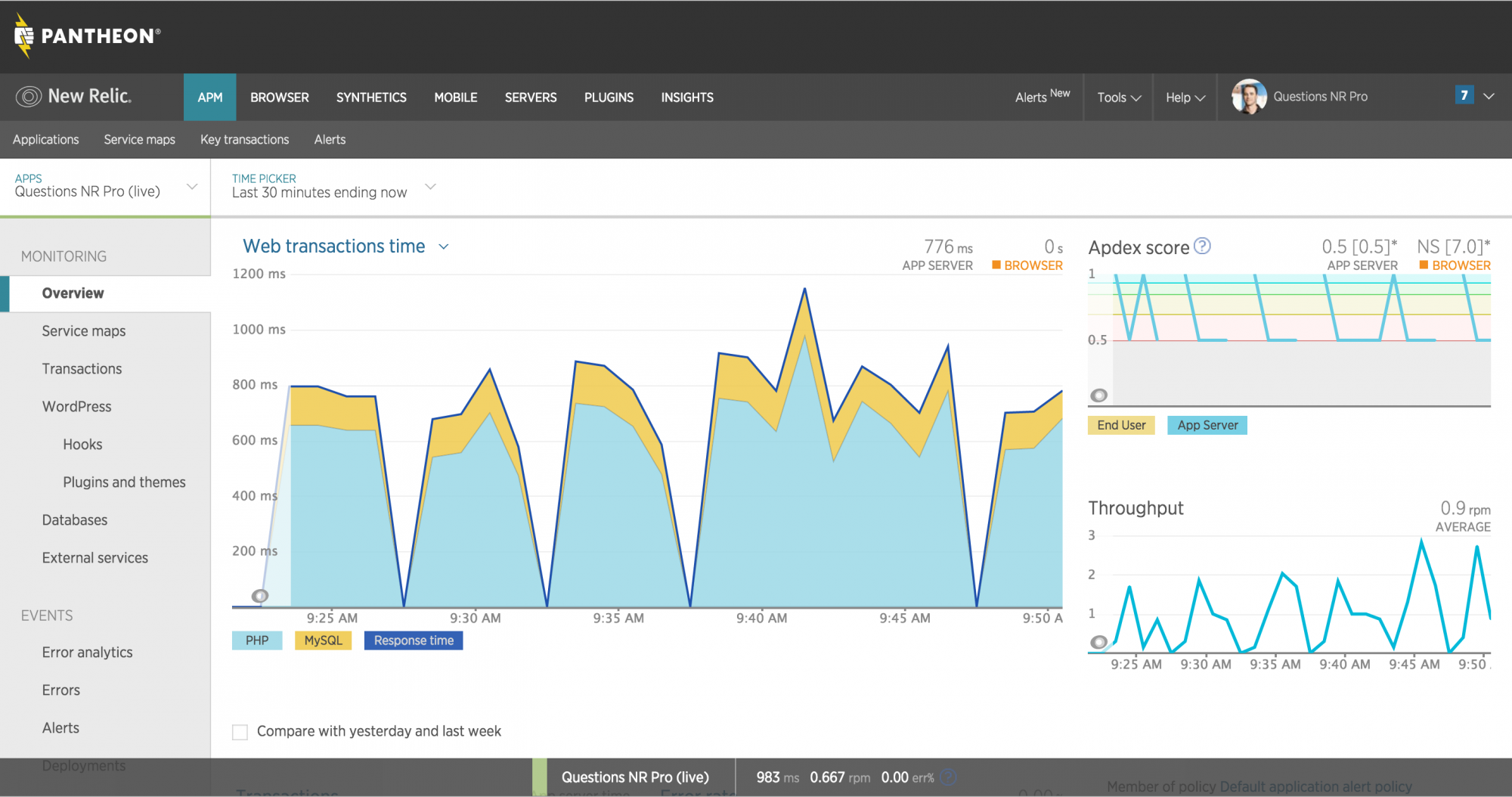 Getting Started with New Relic APM Pro - Pantheon - 웹