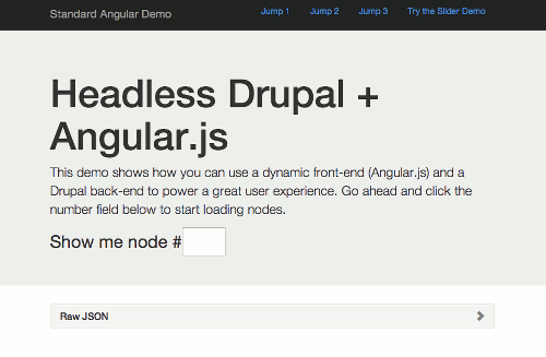 Headless Drupal Demo