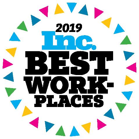Inc. Magazine's 2019 Best Workplaces logo