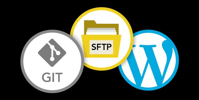 FTP + Git + WP logos