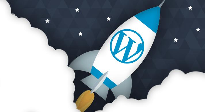 WordPress rocket ship