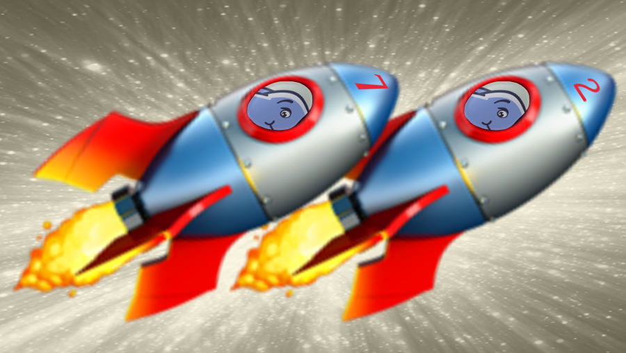 Rockets blasting off