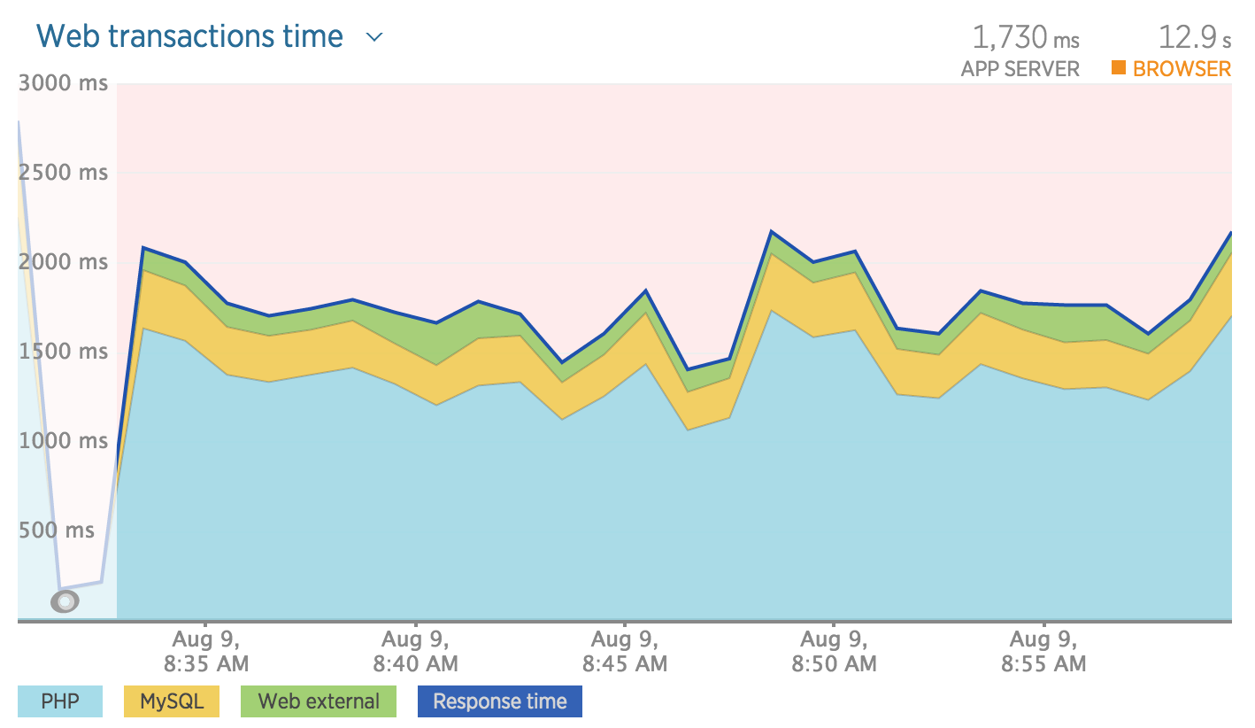 New Relic overview unoptimized