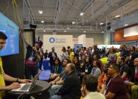 Pantheon's booth demo at DrupalCon