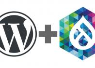 WordPress & DrupalCon logos