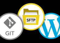 FTP + Git + WP logos