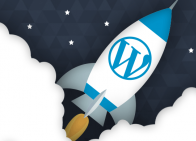 WordPress rocket ship
