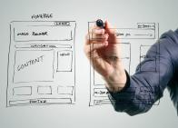 Drawing website wireframes