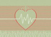 Heart with binary code