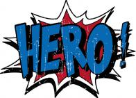 """Hero"" word bubble"