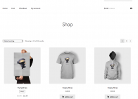 storefront child theme shop page