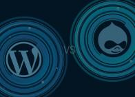 WordPress vs Drupal logos