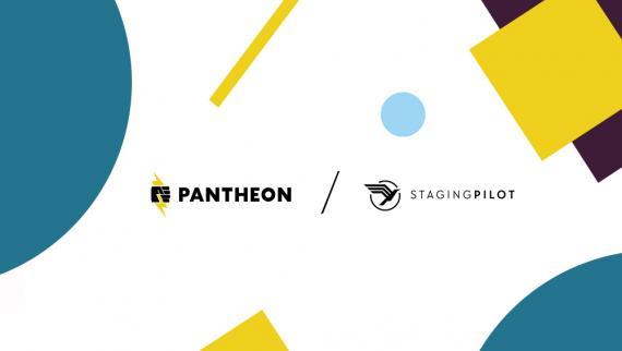 Pantheon and StagingPilot logos